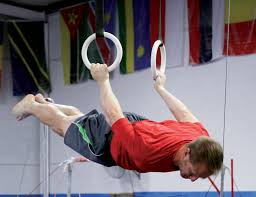 Adult on rings
